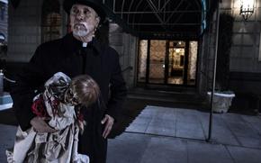 Картинка cinema, demon, horror, toy, devil, movie, fear, evil, film, Anabelle, priest, terror, oni, New Line …