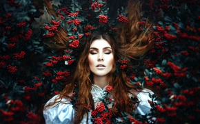 Картинка ягоды, локоны, Ronny Garcia, The rebirth of the red queen II