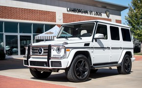 Картинка Mercedes, AMG, White, G63