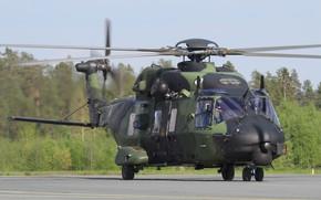 Картинка вертолет, аэродром, лопасти