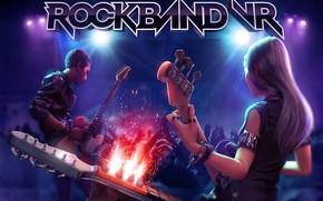 Картинка музыканты, выступление, гитаристы, Rock Band VR Key Art