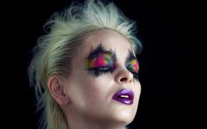Картинка лицо, фон, модель, макияж