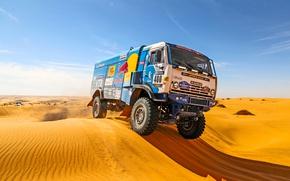 Картинка Песок, Спорт, День, Kamaz, Rally, Dakar, Дакар, Ралли, Камаз, 400, Master, Дюна