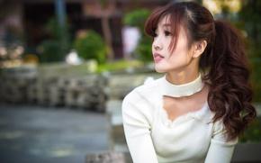 Картинка девушка, волосы, азиатка