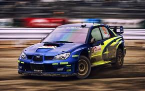 Обои Авто, Subaru, Impreza, Спорт, Машина, Гонка, WRX, Автомобиль, STI, Субару, Импреза, WRX STI, Solberg, Rally, ...