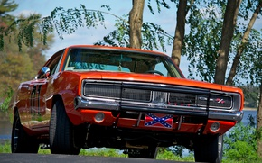 Обои Charger, Orange, The Dukes of Hazzard, Muscle car, General Lee, 1969, Dodge