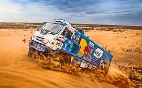 Картинка Гонка, Дакар, Dakar, Спорт, Rally, Master, День, Kamaz, Жаа, Дюна, Мастер, Камаз, Грузовик, Песок, Машина