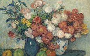 Картинка стол, ваза, Натюрморт с Цветами, Georges d'Espagnat