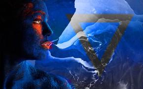 Картинка abstract, girl, blue