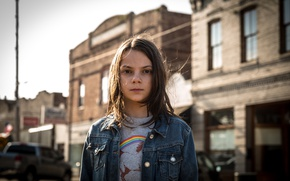 Обои cinema, girl, Wolverine, X-Men, Logan, Marvel, hero, film, Laura, X-23, yuusha, Dafne Keen