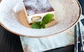 Картинка сладость, мята, тортик, вкусно