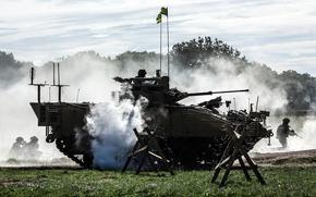 Обои маневры, пехоты, боевая машина, солдаты