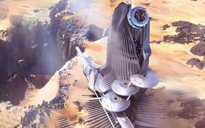 Картинка обрыв, сооружение, Port Chromium