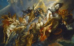 Картинка картина, Питер Пауль Рубенс, мифология, Падение Фаэтона, Pieter Paul Rubens