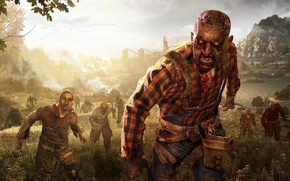 Картинка zombie, blood, game, undead, biohazard, Dying Light, Dying Light The Following, Dying Light: The Following