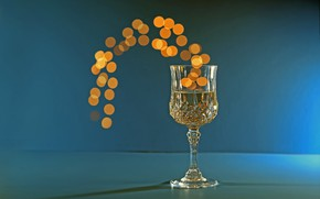 Обои бокал, фон, Bokeh, Champagne