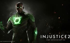 Картинка Green Lantern, NetherRealm Studios, Injustice 2, John Stewart, emerald guardian