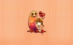 Картинка фон, аниме, девочка, Yume Nikki