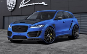 Обои Lumma Design, Синий, Jaguar, Тюнинг, F-Pace