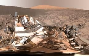 Обои дюны, на Марсе, панорамный обзор, намибские