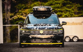 Картинка Concept, Volkswagen, вид спереди, 2018, Aero, Tiguan, R-Line
