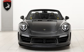 Картинка 911, Porsche, GTR, вид спереди, Turbo, 2018, Cabriolet, TopCar, Carbon Edition, Stinger