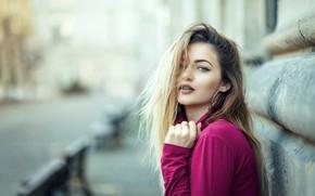 Картинка улица, портрет, блондинка, Bianca, красотка, боке, Catalin Popescu