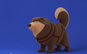 Картинка собака, минимализм, Nikki, David Barrero