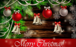 Картинка игрушки, ель, Рождество, колокольчики