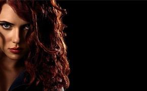 Обои Scarlett Johansson, red, Iron Man 2, Black Widow, movies