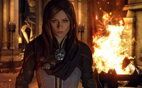 Картинка fire, flame, Dragon Age, spark, Dragon Age: Inquisition, Leliana