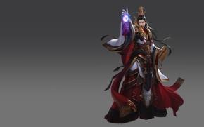 Обои игра, фэнтези, арт, маг, уровень, навык, скил, лвл, дизайн костюма, 大秦帝国之崛起, li miao