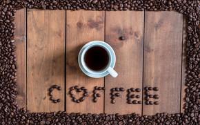 Картинка фон, сердце, кофе, зерна, чашка, love, heart, texture, background, cup, beans, coffee, roasted