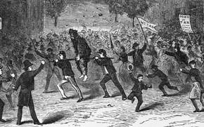 Картинка The Last of Three American Tax Revolts, Fries' Rebellion, of 1799, чёрно белая