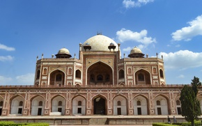 Картинка architecture, tomb, islam, Delhi, mausoleum, humayun's tomb, Dilli