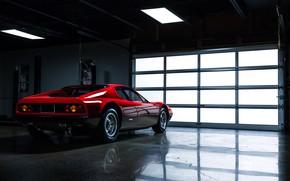 Обои Авто, Машина, Феррари, Ferrari, Гараж, 365, Boxer, Berlinetta, Вид сбоку, Сзади, GT4, Jeremy Cliff, 365 ...
