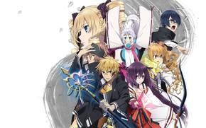 Картинка Tokyo, Japan, girl, weapon, anime, asian, bow, japanese, arrow, oriental, asiatic, bishojo, seifuku, kitsune, miko, …
