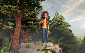 Картинка forest, boy, human, animated film, animated movie, StudioCanal, The Son of Bigfoot