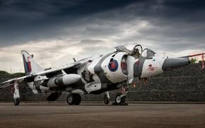 Картинка авиация, стоит, самолёт, Harrier GR.3