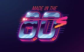 Картинка стиль, неон, арт, шрифт, 80s, neon, 80s neon style, made in the 80s