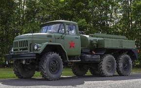 Картинка грузовик, ЗИЛ, военный бензовоз