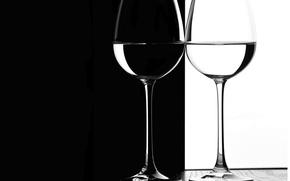 Обои бокал, контраст, стекло, фужер