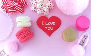 Обои Праздник, сердечко, день влюбленных, пирожные