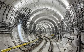 Картинка structure, rail, Tunnel