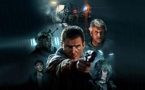 Обои Cyberpunk, Harrison Ford, Blade Runner