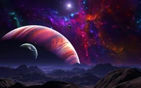 Картинка космос, свет, тьма, вселенная, звезда, планеты, space, неизвестность