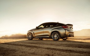 Картинка дорога, дизайн, пустыня, BMW X6M