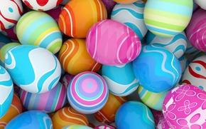 Обои colorful, Пасха, spring, Easter, eggs