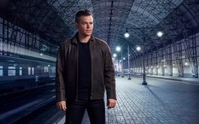 Обои перрон, Мэтт Дэймон, фотосессия, для фильма, железная дорога, вокзал, Jason Bourne, Matt Damon, Nino Munoz, ...