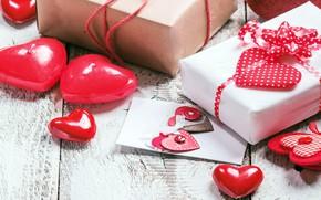 Обои любовь, сердце, подарки, сердечки, love, heart, wood, romantic, Valentine's Day, gift